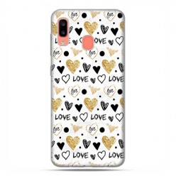 Samsung Galaxy A20E - etui na telefon wzory - Serduszka Love.