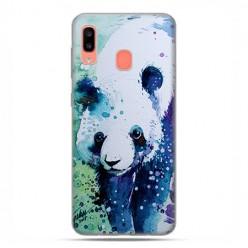 Samsung Galaxy A20E - etui na telefon wzory - Miś panda watercolor.