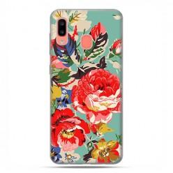 Samsung Galaxy A20E - etui na telefon wzory - Kolorowe róże.