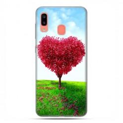 Samsung Galaxy A20E - etui na telefon wzory - Serce z drzewa.
