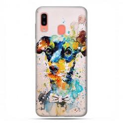 Samsung Galaxy A20E - etui na telefon wzory - Szczeniak watercolor.