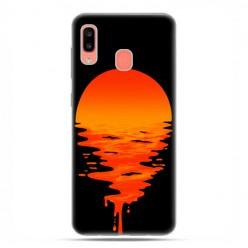 Samsung Galaxy A20E - etui na telefon wzory - Zachodzące słońce.