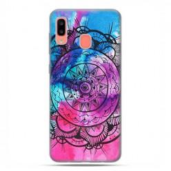 Samsung Galaxy A20E - etui na telefon wzory - Rozeta watercolor.