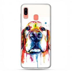Samsung Galaxy A20E - etui na telefon wzory - Pies labrador watercolor.