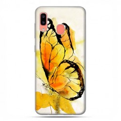 Samsung Galaxy A20E - etui na telefon wzory - Motyl watercolor.
