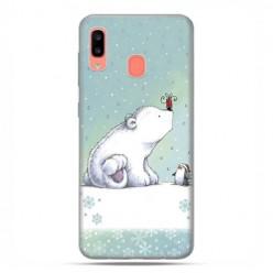 Samsung Galaxy A20E - etui na telefon wzory - Polarne zwierzaki.