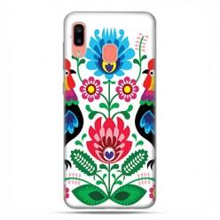 Samsung Galaxy A20E - etui na telefon wzory - Łowickie wzory kwiaty.