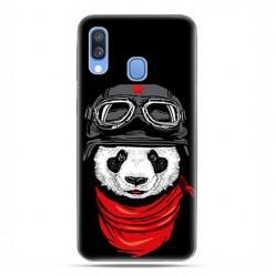 Samsung Galaxy A40 - etui na telefon wzory - Panda w czapce.