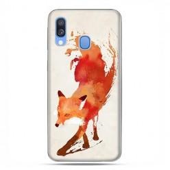 Samsung Galaxy A40 - etui na telefon wzory - Watercolor Lis.