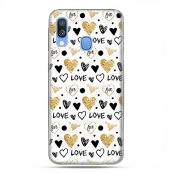 Samsung Galaxy A40 - etui na telefon wzory - Serduszka Love.