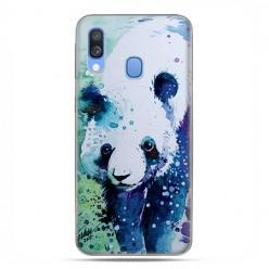 Samsung Galaxy A40 - etui na telefon wzory - Miś panda watercolor.