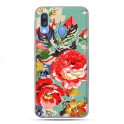 Samsung Galaxy A40 - etui na telefon wzory - Kolorowe róże.