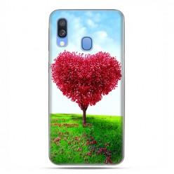 Samsung Galaxy A40 - etui na telefon wzory - Serce z drzewa.