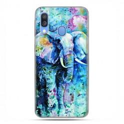 Samsung Galaxy A40 - etui na telefon wzory - Kolorowy słoń.