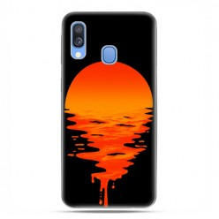 Samsung Galaxy A40 - etui na telefon wzory - Zachodzące słońce.