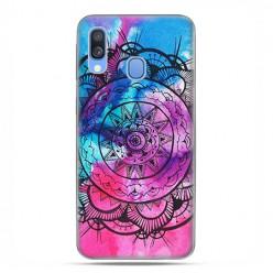 Samsung Galaxy A40 - etui na telefon wzory - Rozeta watercolor.