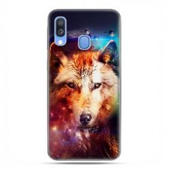 Samsung Galaxy A40 - etui na telefon wzory - Wilk z galaktyki.
