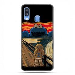 Samsung Galaxy A40 - etui na telefon wzory - Parodia obrazu krzyk.
