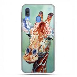 Samsung Galaxy A40 - etui na telefon wzory - Żyrafa watercolor.