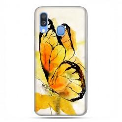 Samsung Galaxy A40 - etui na telefon wzory - Motyl watercolor.