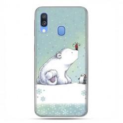 Samsung Galaxy A40 - etui na telefon wzory - Polarne zwierzaki.