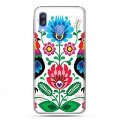 Samsung Galaxy A40 - etui na telefon wzory - Łowickie wzory kwiaty.