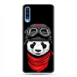 Samsung Galaxy A70 - etui na telefon wzory - Panda w czapce.