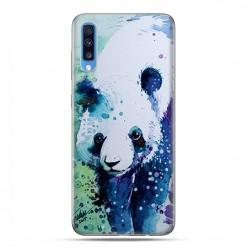 Samsung Galaxy A70 - etui na telefon wzory - Miś panda watercolor.