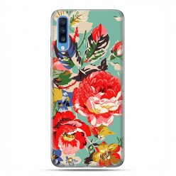Samsung Galaxy A70 - etui na telefon wzory - Kolorowe róże.