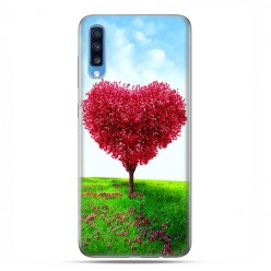 Samsung Galaxy A70 - etui na telefon wzory - Serce z drzewa.