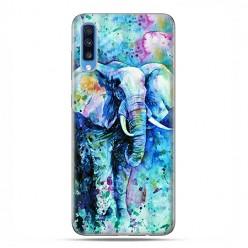 Samsung Galaxy A70 - etui na telefon wzory - Kolorowy słoń.
