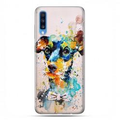 Samsung Galaxy A70 - etui na telefon wzory - Szczeniak watercolor.
