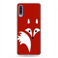 Samsung Galaxy A70 - etui na telefon wzory - Czerwony lisek.