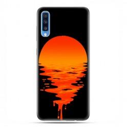Samsung Galaxy A70 - etui na telefon wzory - Zachodzące słońce.