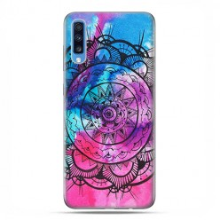 Samsung Galaxy A70 - etui na telefon wzory - Rozeta watercolor.