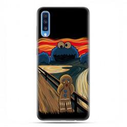 Samsung Galaxy A70 - etui na telefon wzory - Parodia obrazu krzyk.