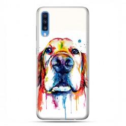Samsung Galaxy A70 - etui na telefon wzory - Pies labrador watercolor.
