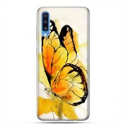 Samsung Galaxy A70 - etui na telefon wzory - Motyl watercolor.