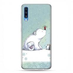 Samsung Galaxy A70 - etui na telefon wzory - Polarne zwierzaki.
