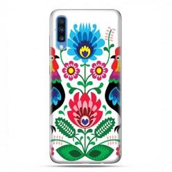 Samsung Galaxy A70 - etui na telefon wzory - Łowickie wzory kwiaty.