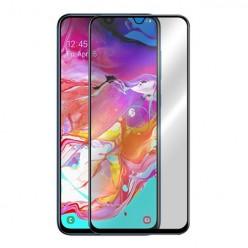 Hartowane szkło na Cały ekran 3D Full glue - Samsung Galaxy A70 - czarny.