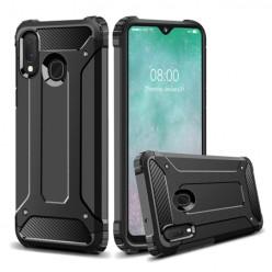 Pancerne etui na Samsung Galaxy A20E - kolor czarny grafitowy.