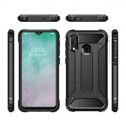 Pancerne etui na Samsung Galaxy A40 - kolor czarny grafitowy.