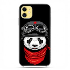 Etui case na telefon - Apple iPhone 11 - Panda w czapce.