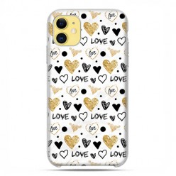 Etui case na telefon - Apple iPhone 11 - Serduszka Love.