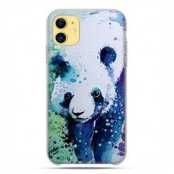 Etui case na telefon - Apple iPhone 11 - Miś panda watercolor.