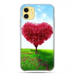 Etui case na telefon - Apple iPhone 11 - Serce z drzewa.