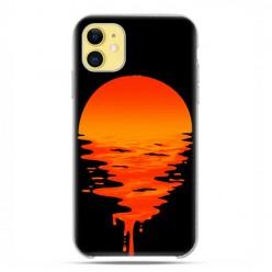 Etui case na telefon - Apple iPhone 11 - Zachodzące słońce.