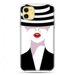 Etui case na telefon - Apple iPhone 11 - Kobieta w kapeluszu.