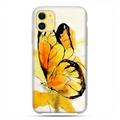 Etui case na telefon - Apple iPhone 11 - Motyl watercolor.